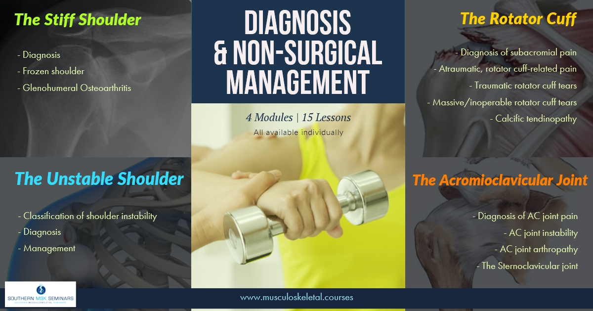 Diagnosis and Non-Surgical Management Course | All Online Modules & Workshops